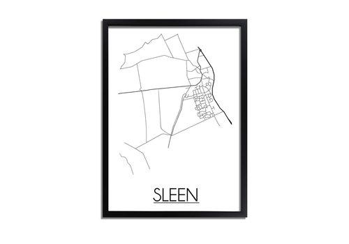 DesignClaud Sleen Plattegrond poster
