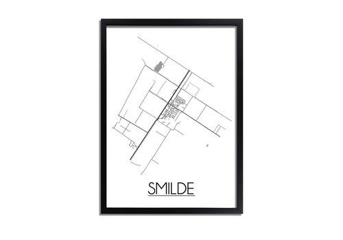 DesignClaud Smilde Plattegrond poster