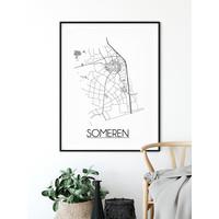 Someren Plattegrond poster