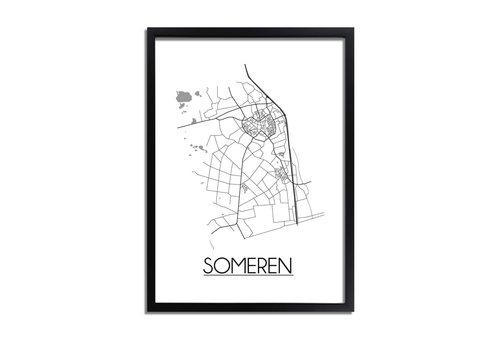 DesignClaud Someren Plattegrond poster