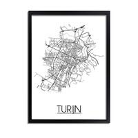 Turijn Plattegrond poster