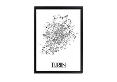 DesignClaud Turijn Plattegrond poster