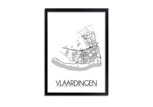 DesignClaud Vlaardingen Plattegrond poster