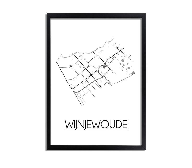 Wijnjewoude Plattegrond poster