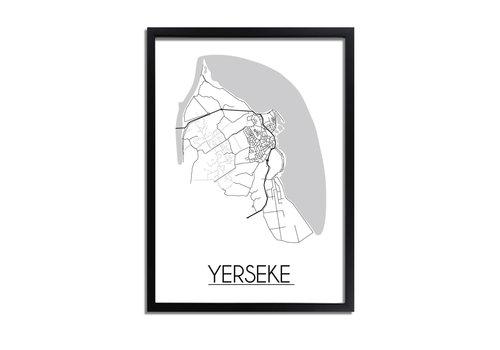 DesignClaud Yerseke Plattegrond poster