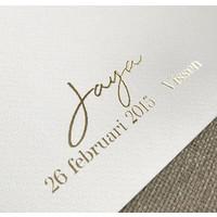 Jubileum Huwelijksposter Goudfolie / Zilverfolie / Koperfolie Stadskaart trouwposter