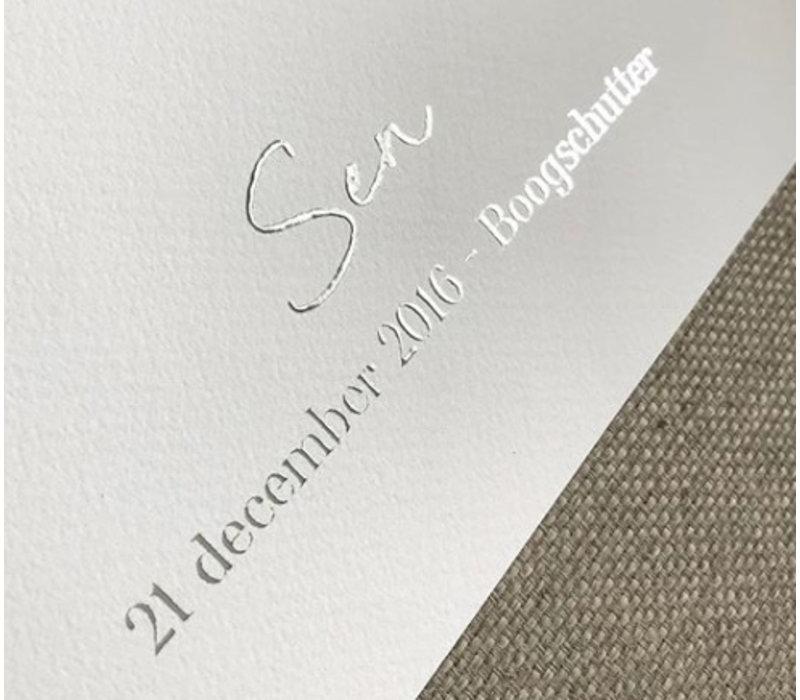 Jubileum Huwelijksposter Goudfolie / Zilverfolie / Koperfolie Stadskaart trouwposter  - Minimalistisch