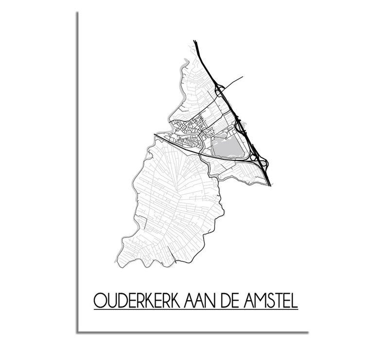 Ouderkerk aan de Amstel Plattegrond poster