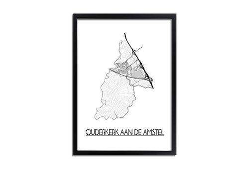 DesignClaud Ouderkerk aan de Amstel Plattegrond poster