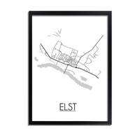 Elst Utrecht Plattegrond poster