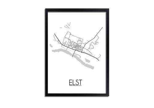 DesignClaud Elst Utrecht Plattegrond poster