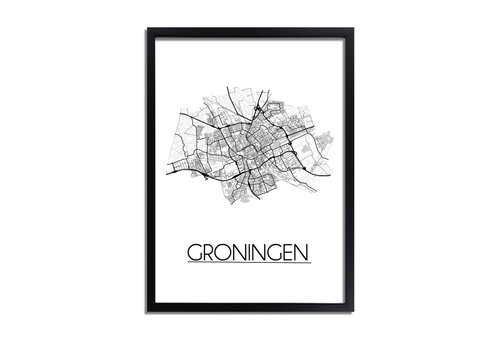 DesignClaud Groningen detail Plattegrond poster
