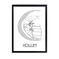 Hollum Plattegrond poster