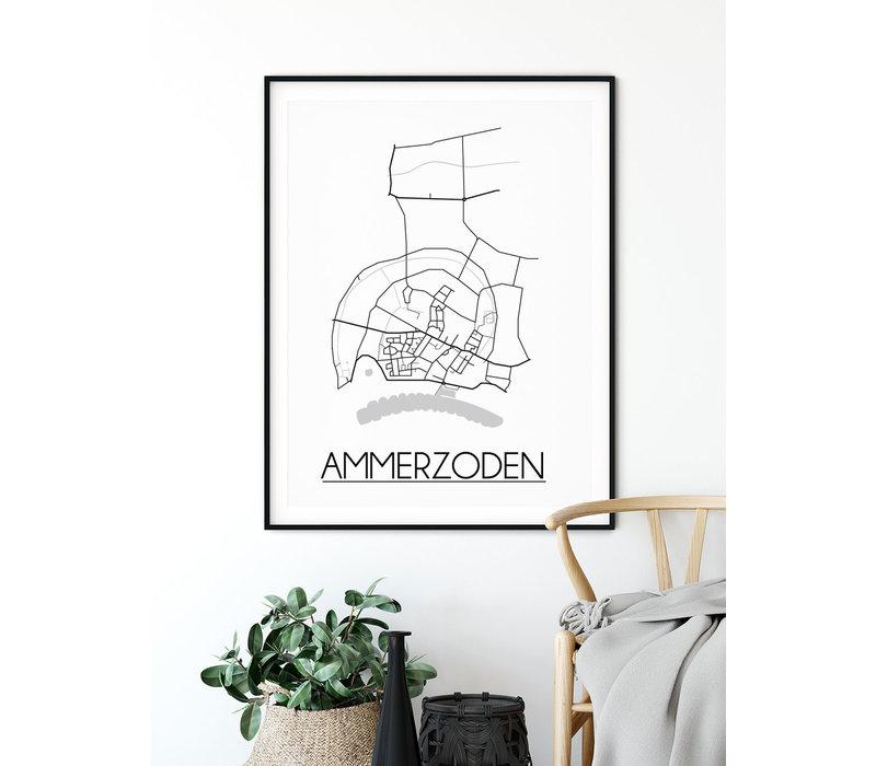 Ammerzoden Plattegrond poster
