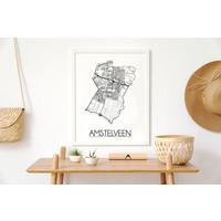 Amstelveen Plattegrond poster