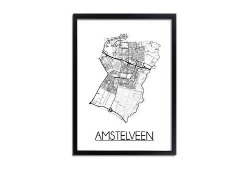 DesignClaud Amstelveen Plattegrond poster