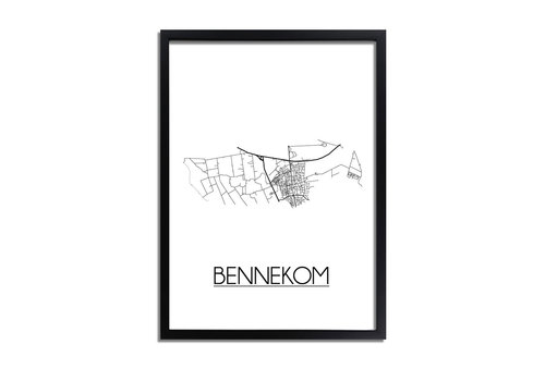 DesignClaud Bennekom Plattegrond poster