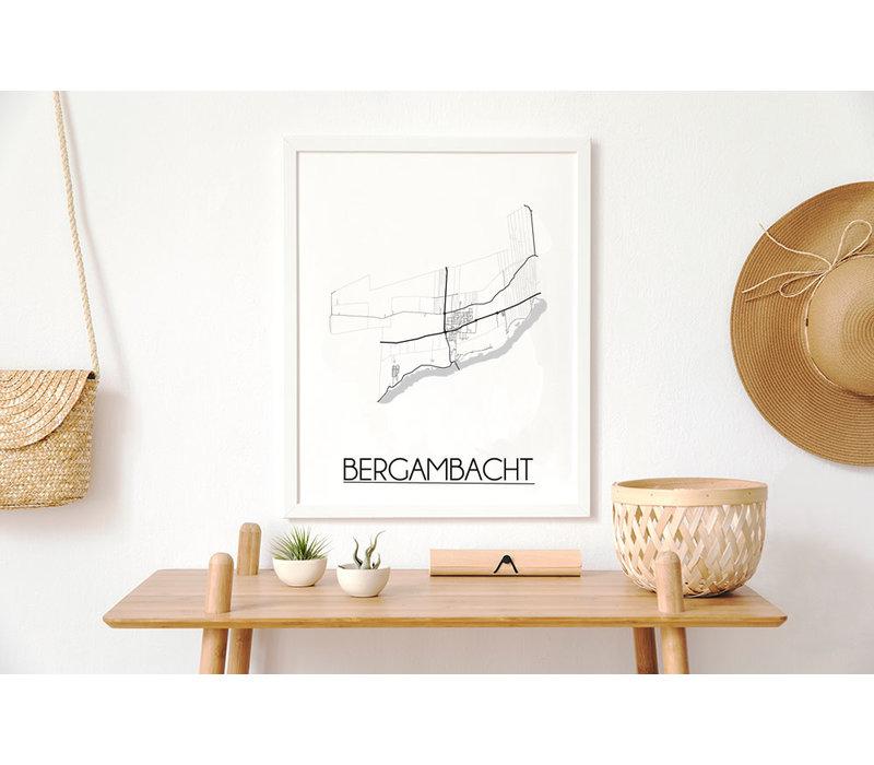 Bergambacht Plattegrond poster