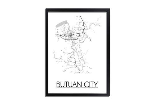 DesignClaud Butuan City Plattegrond poster
