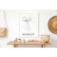 Butuan City Plattegrond poster