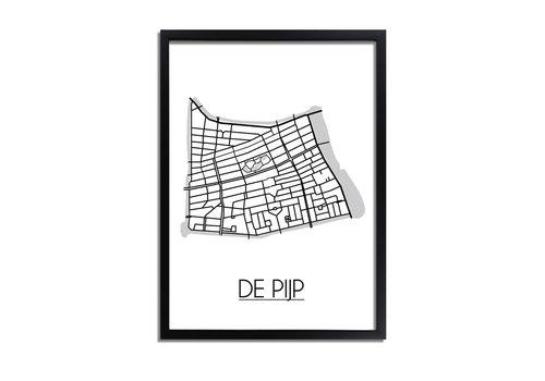 DesignClaud De Pijp Plattegrond poster