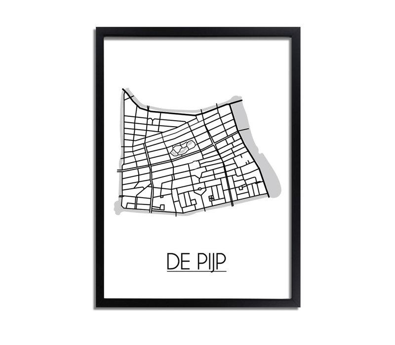 De Pijp Plattegrond poster