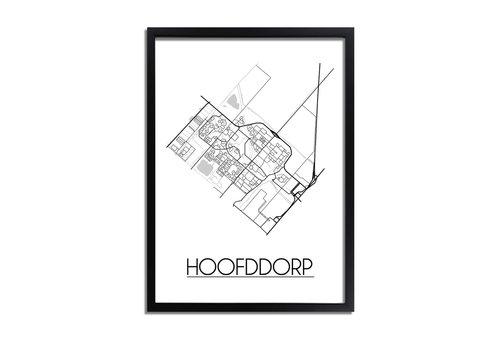 DesignClaud Hoofddorp Plattegrond poster