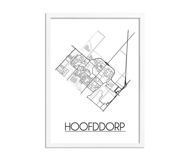 Hoofddorp Plattegrond poster