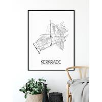 Kerkrade Plattegrond poster