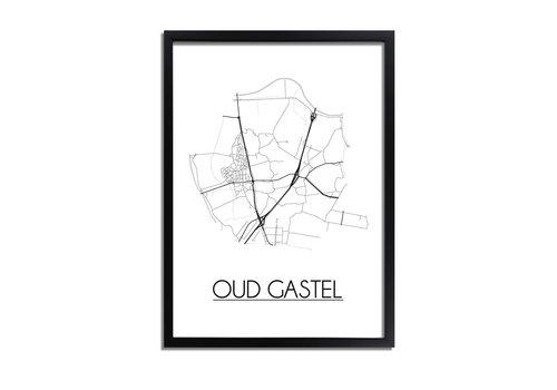 DesignClaud Oud-Gastel Plattegrond poster