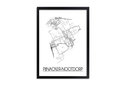 DesignClaud Pijnacker-Nootdorp Plattegrond poster