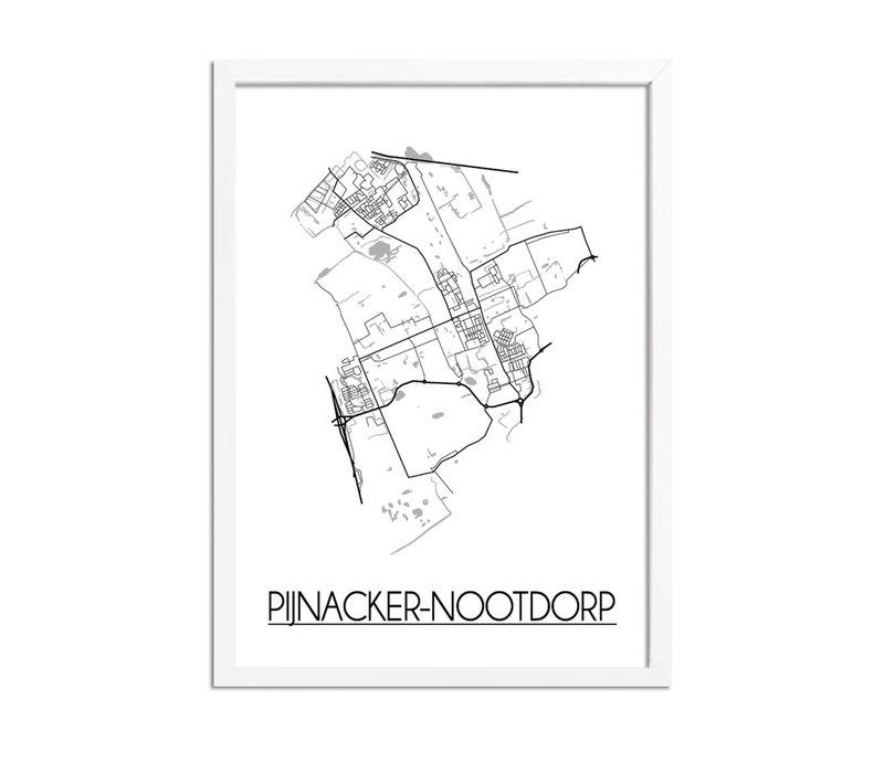 Pijnacker-Nootdorp Plattegrond poster