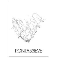 Pontassieve Plattegrond poster