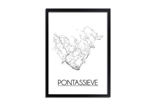 DesignClaud Pontassieve Plattegrond poster