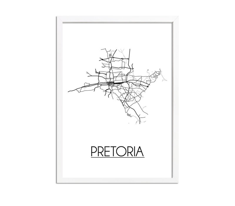 Pretoria Plattegrond poster