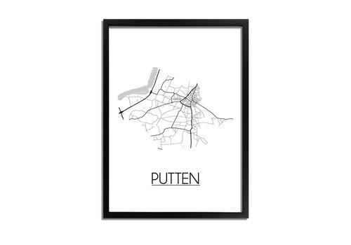 DesignClaud Putten Plattegrond poster