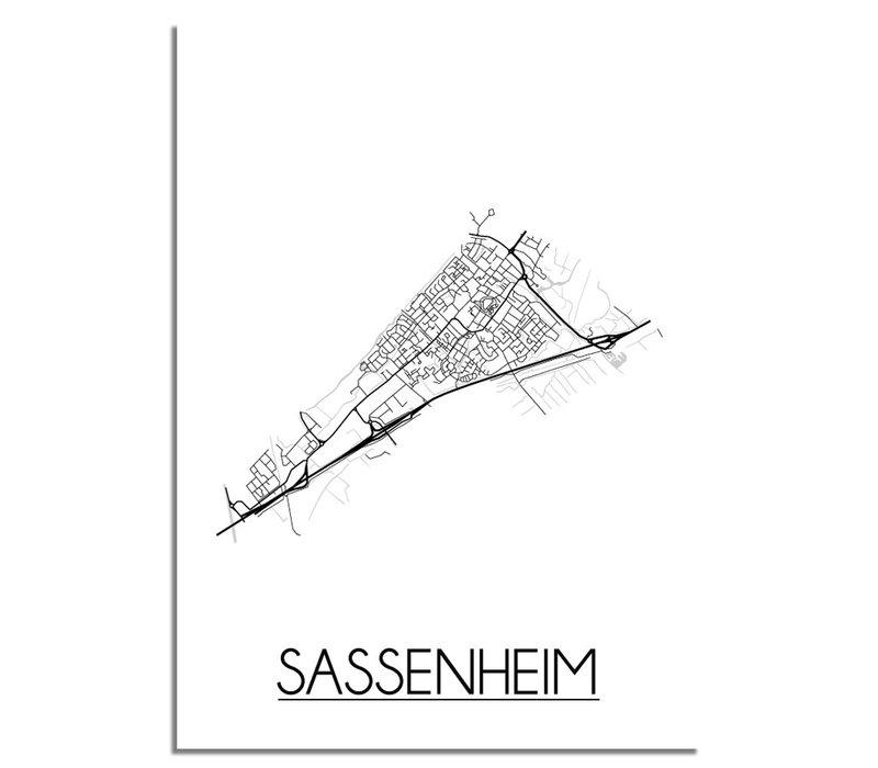 Sassenheim Plattegrond poster
