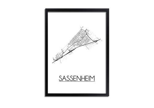 DesignClaud Sassenheim Plattegrond poster