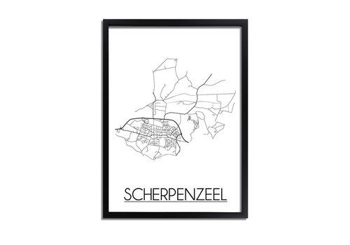 DesignClaud Scherpenzeel Plattegrond poster