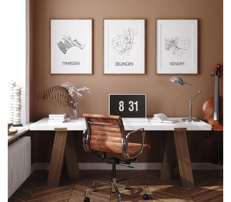 Sellingen Plattegrond poster
