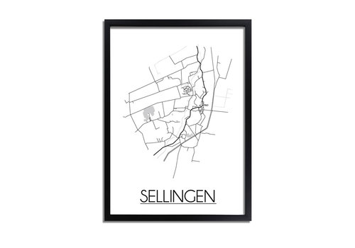 DesignClaud Sellingen Plattegrond poster