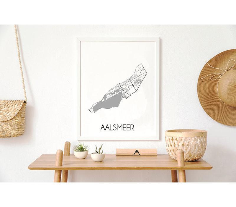 Aalsmeer Plattegrond poster