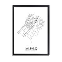 Belfeld Plattegrond poster