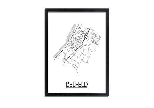 DesignClaud Belfeld Plattegrond poster