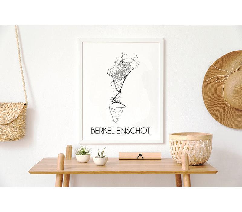 Berkel-Enschot Plattegrond poster