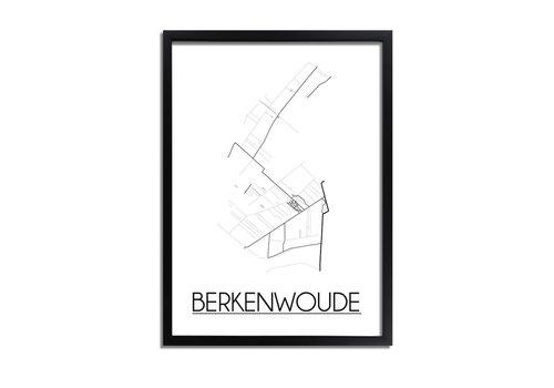 DesignClaud Berkenwoude Plattegrond poster
