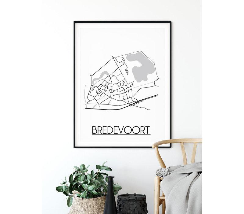Bredevoort Plattegrond poster