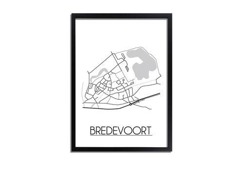DesignClaud Bredevoort Plattegrond poster