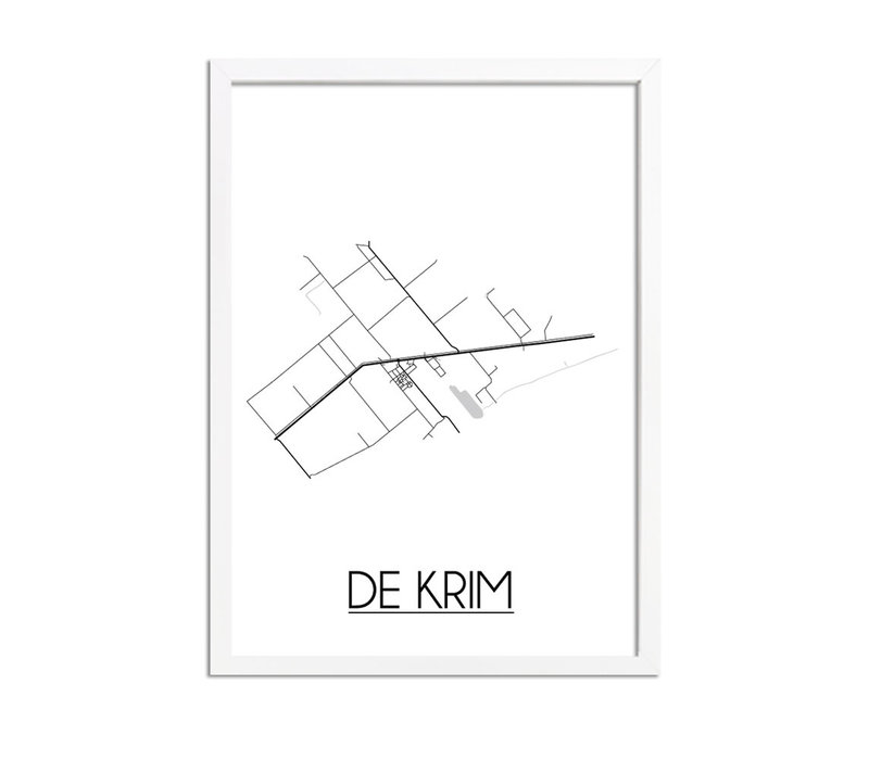 De Krim Plattegrond poster