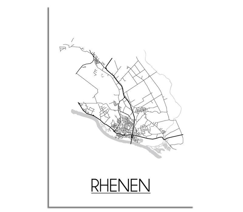 Rhenen Plattegrond poster
